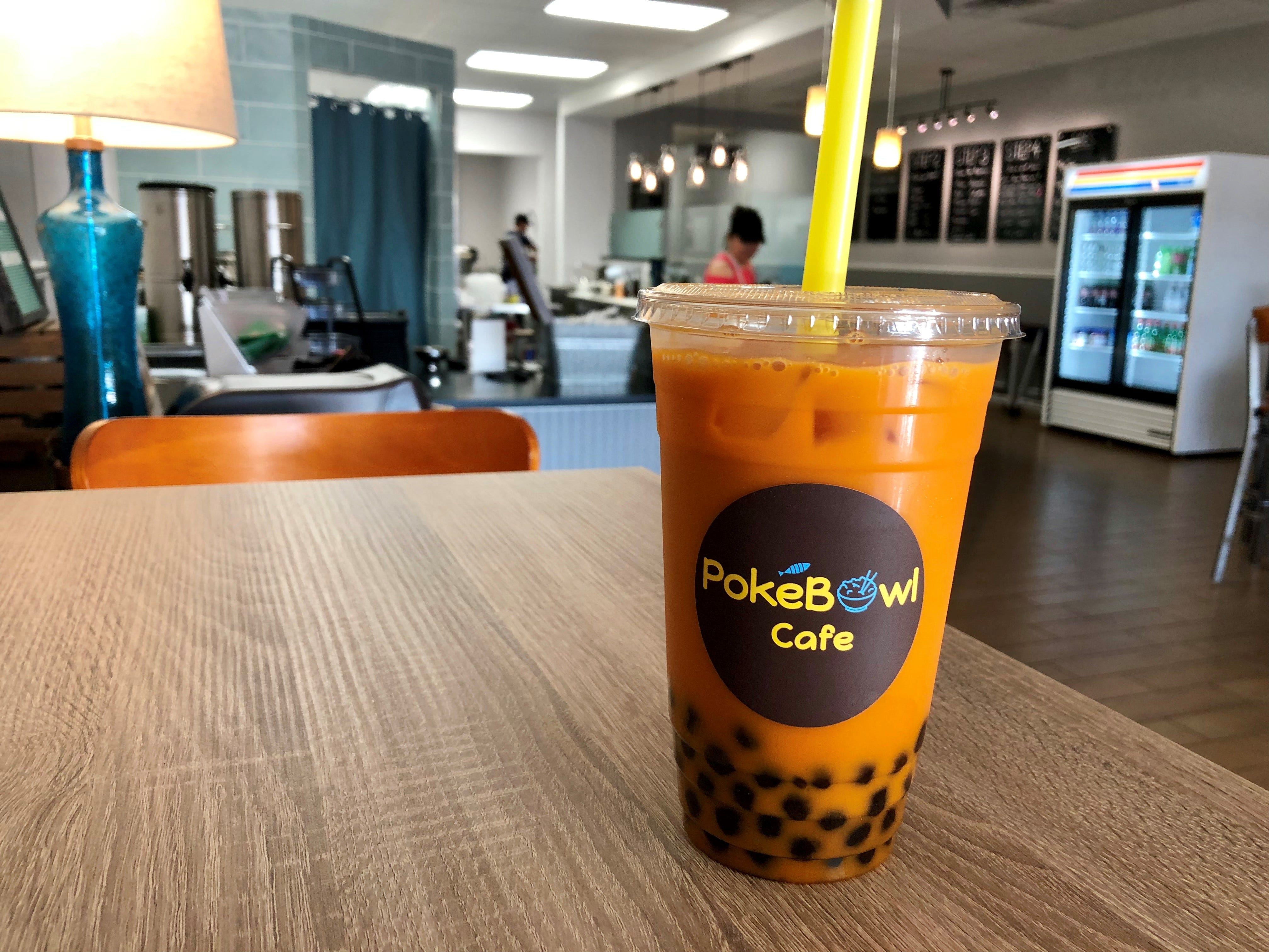PokeBowl Cafe also offers house-steeped boba teas.