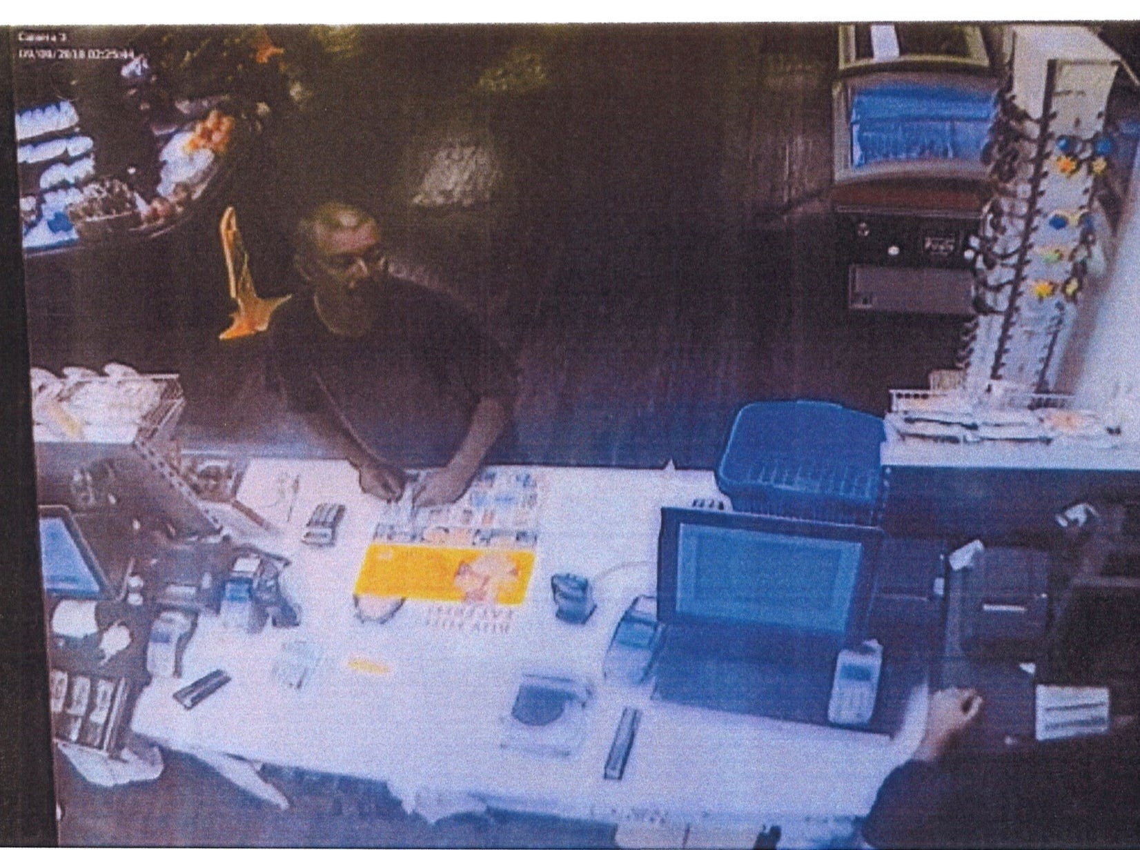 This photo from surveillance footage provided by Reaction Co. President Randy Sager shows a man who they suspect used a stolen gas card on Sept. 9.