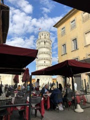 You can eat lunch in Pisa. We hear there are historic sites to see as well. We can't confirm.