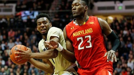 Purdue's Aaron Wheeler had a breakout game against Maryland.