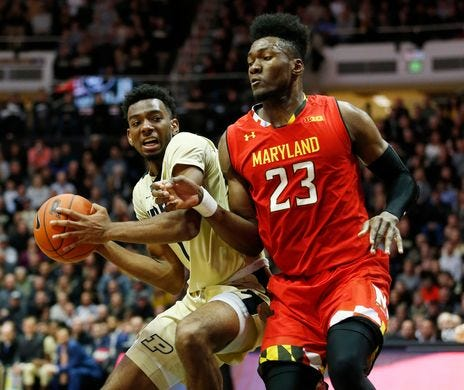 Aaron Wheeler scored 15 points, his most for Purdue, against Maryland.