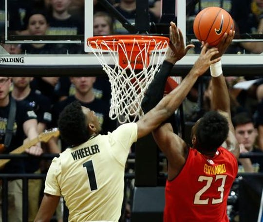 Aaron Wheeler had a breakout game for Purdue against Maryland.