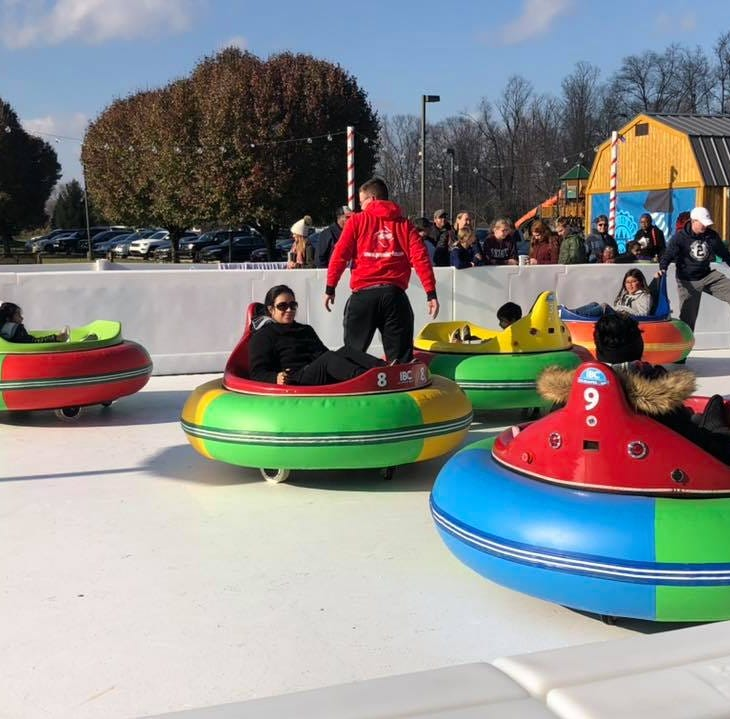 Avon 'ice-less' ice rink's bumper cars are first in the nation