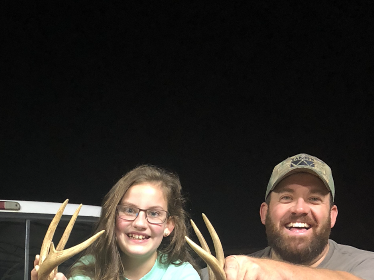 Becca Jolyn Fitzgerald, 10, of Laurel harvested her first deer with a Winchester Model 70 rifle chambered in .243 Winchester. It was the same rifle her father, Kenny Fitzgerald, (pictured) and grandmother, Jo Long, used to harvest their first deer.