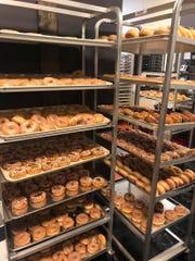 Three to five thousand doughnuts are baked fresh nightly at Beaver's Dough Joe.