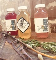 In addition to standard kombucha, Greishaw offers Jun, a honey-fermented kombucha, and Bootleg Fire Cider, an apple cider vinegar-based tonic.