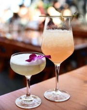 Greishaw uses her kombucha (and her background in bartending) to mix elegant cocktails for events.