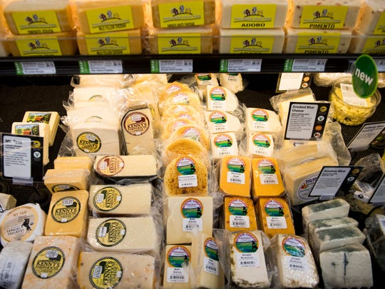 Cheeses sold at Three Rivers Market in the Happy Holler area of Knoxville.