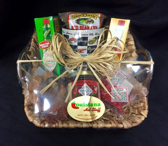 Gift basket sold at Louisiana Hot Stuff