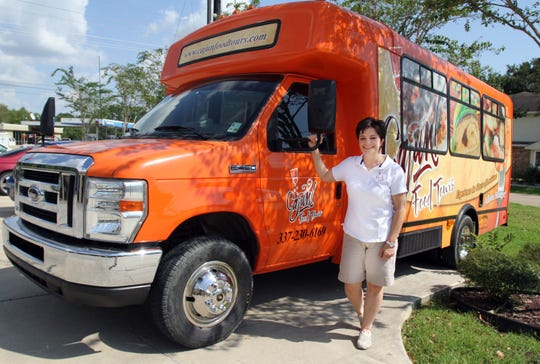 Marie Ducote?s Cajun Food Tours bus takes people on tours of local restaurants.  Advertiser file photo Marie Ducote's Cajun Food Tours bus takes people on tours of local restaurants.