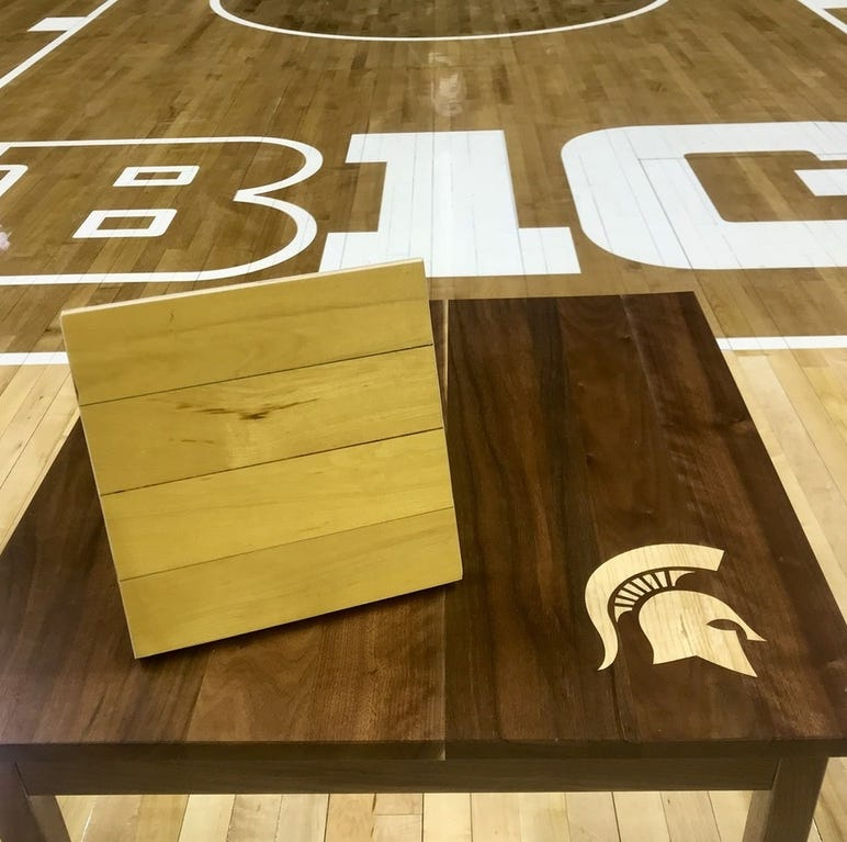 Michigan State-Florida 2000 national championship basketball court pieces for sale