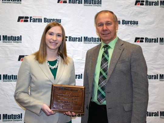 Kelly Wilfert of Manitowoc County was selected as the winner of the 2018 Wisconsin Farm Bureau Federation Young Farmer and Agriculturist Discussion Meet contest.