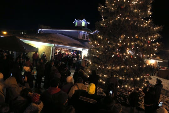 The annual Christmas Tree Lighting ceremony took place on Friday night at Mansfield Carrousel Park.