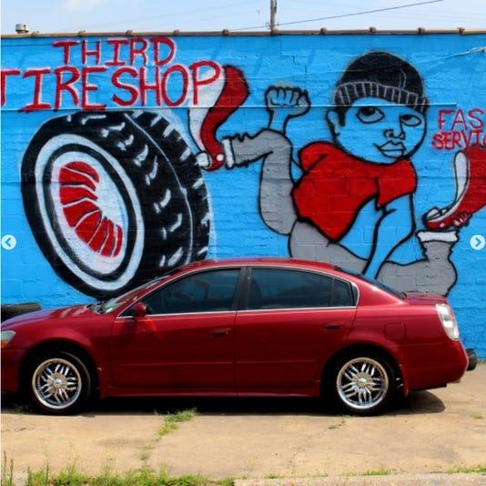 Third Tire Shop mural