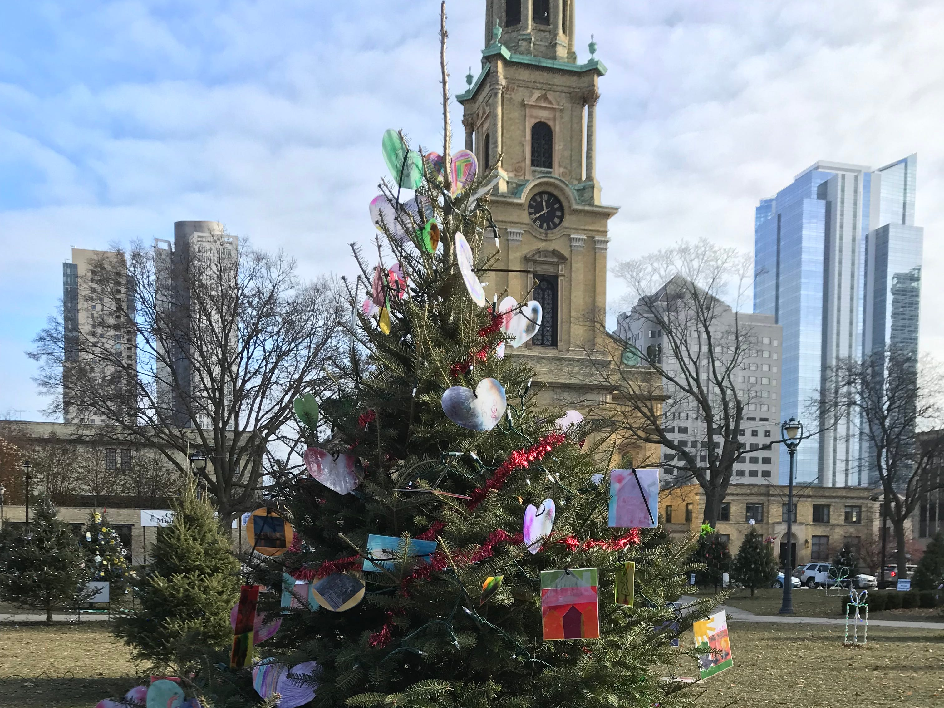 Children from Lloyd Barbee Montessori made ornaments reflecting what they love about Milwaukee.