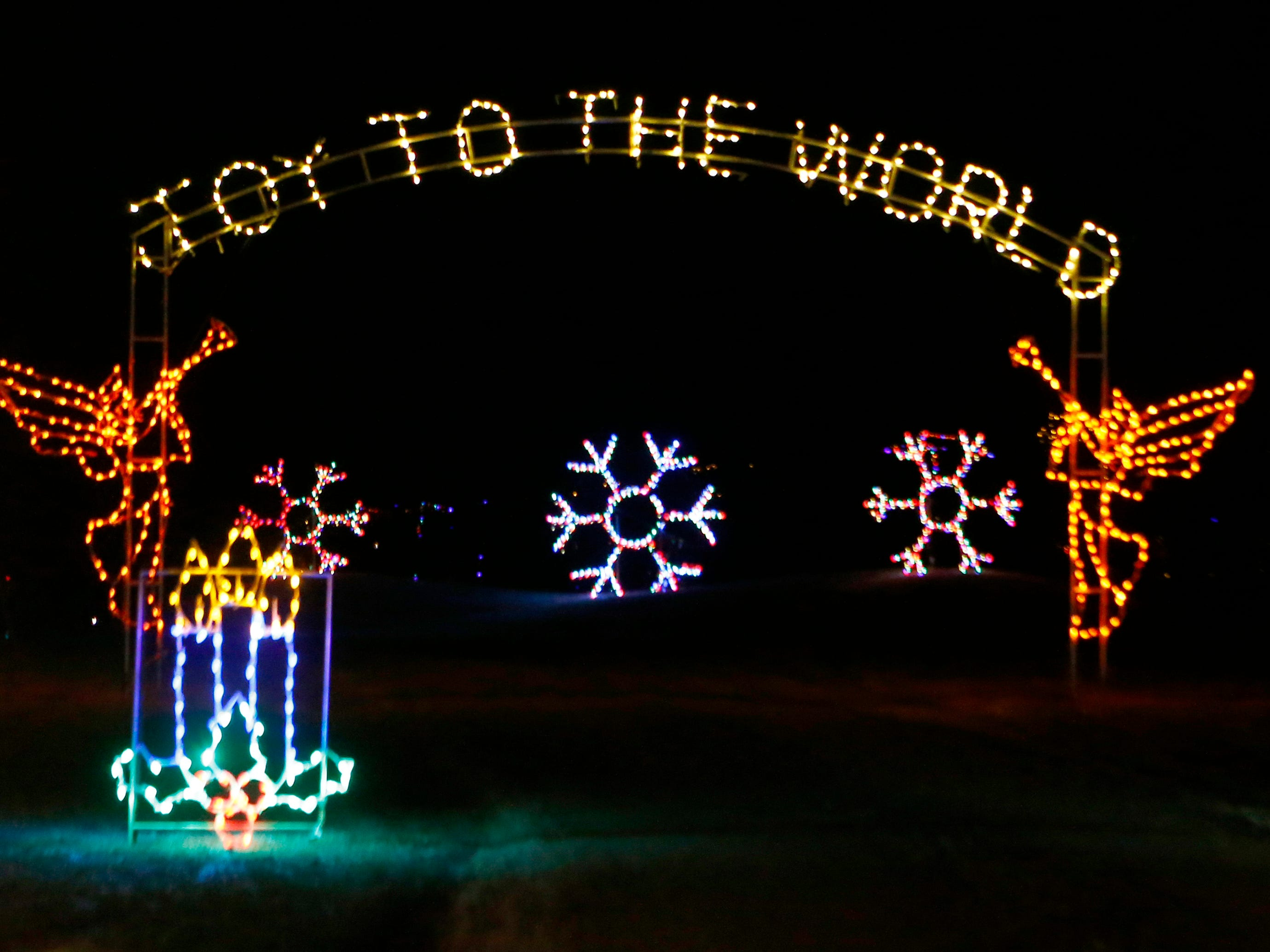 One of the scenes at the Country Christmas outdoor drive-through light display at the Ingleside Hotel in Pewaukee. The Country Christmas display is open 5 p.m. to 9 p.m. Sundays through Thursdays, and 5 p.m. to 10 p.m. Friday and Saturdays.