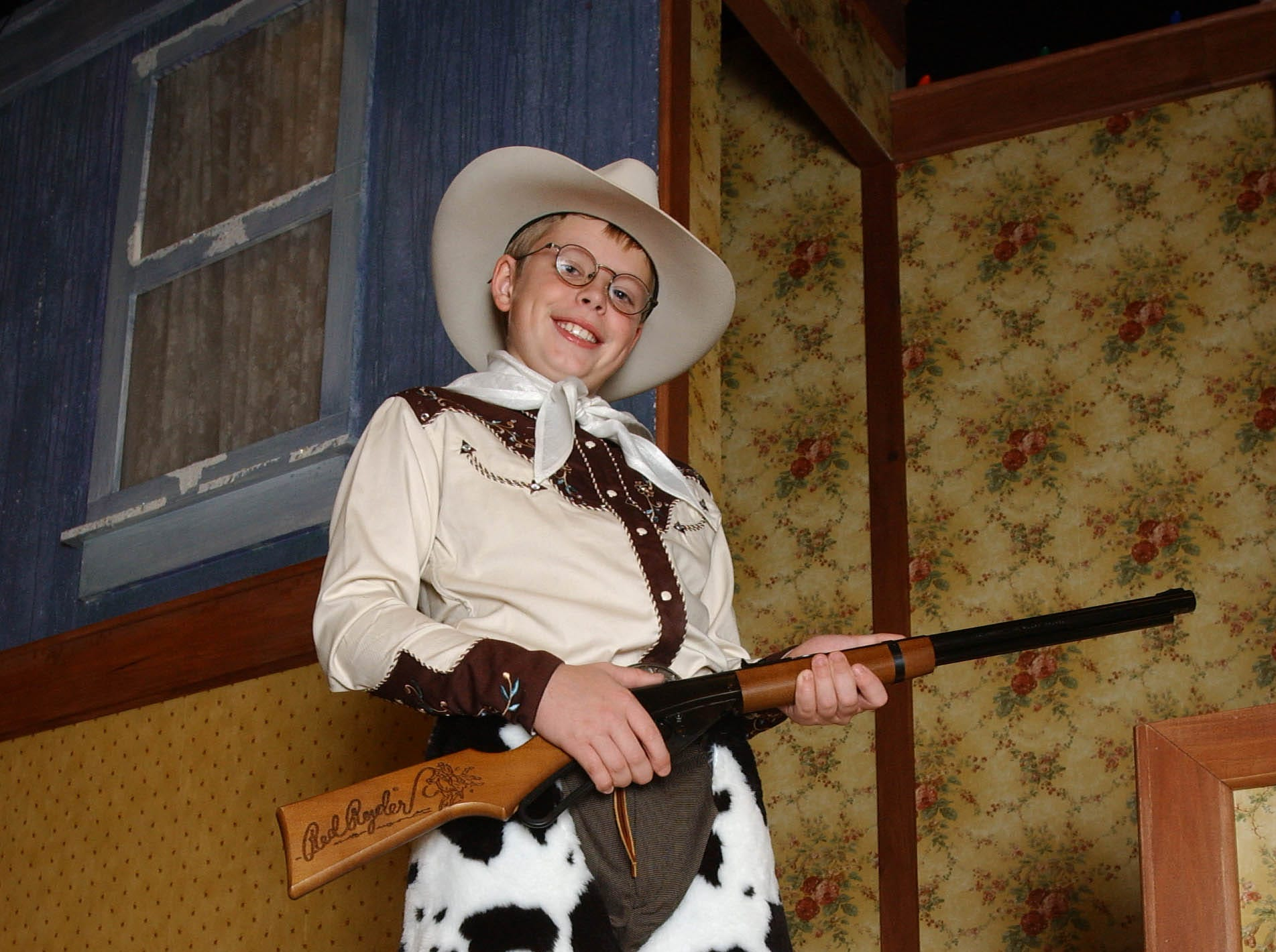 RALPHIE28, CUE, PORTER, 1. - Ralphie, played by Zach Spaciel, is the star of one of the season's favorites, 'A Christmas Story ' being performed by First Stage Children's Theater at the Marcus Center for the Performing Arts. Photograph by Gary Porter. November 17, 2004.