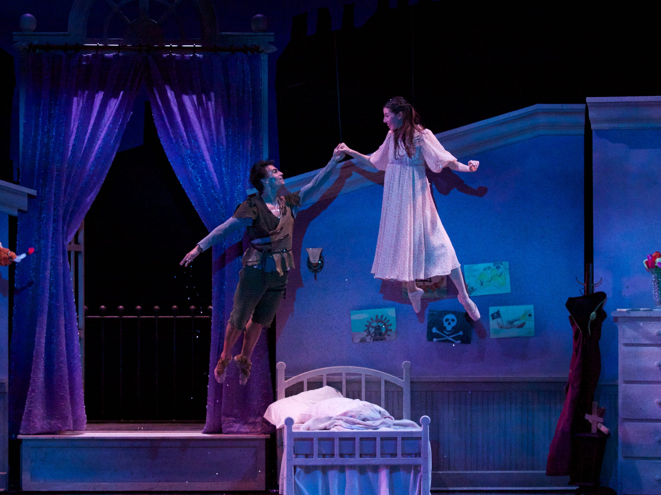 """Milwaukee Ballet's """"Peter Pan"""" at the Marcus Center for the Performing Arts 2012 Marc Petrocci and Valerie Harmon Photo Michael S. Levine"""