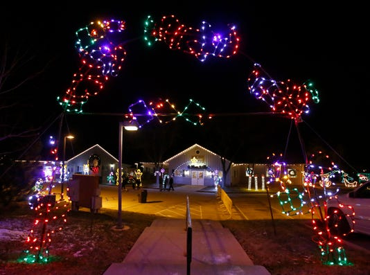 Country Christmas Light Display In Pewaukee