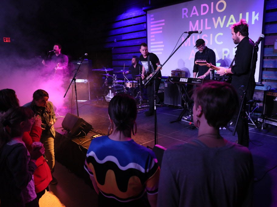Dramatic Lovers performed at the Radio Milwaukee Music Awards Thursday.