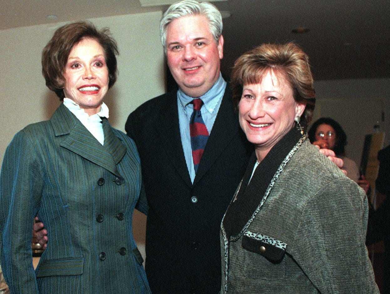 Mary Tyler Moore, Ed & Judy Carroll after the lecture at the Marcus Center for Performing Arts.