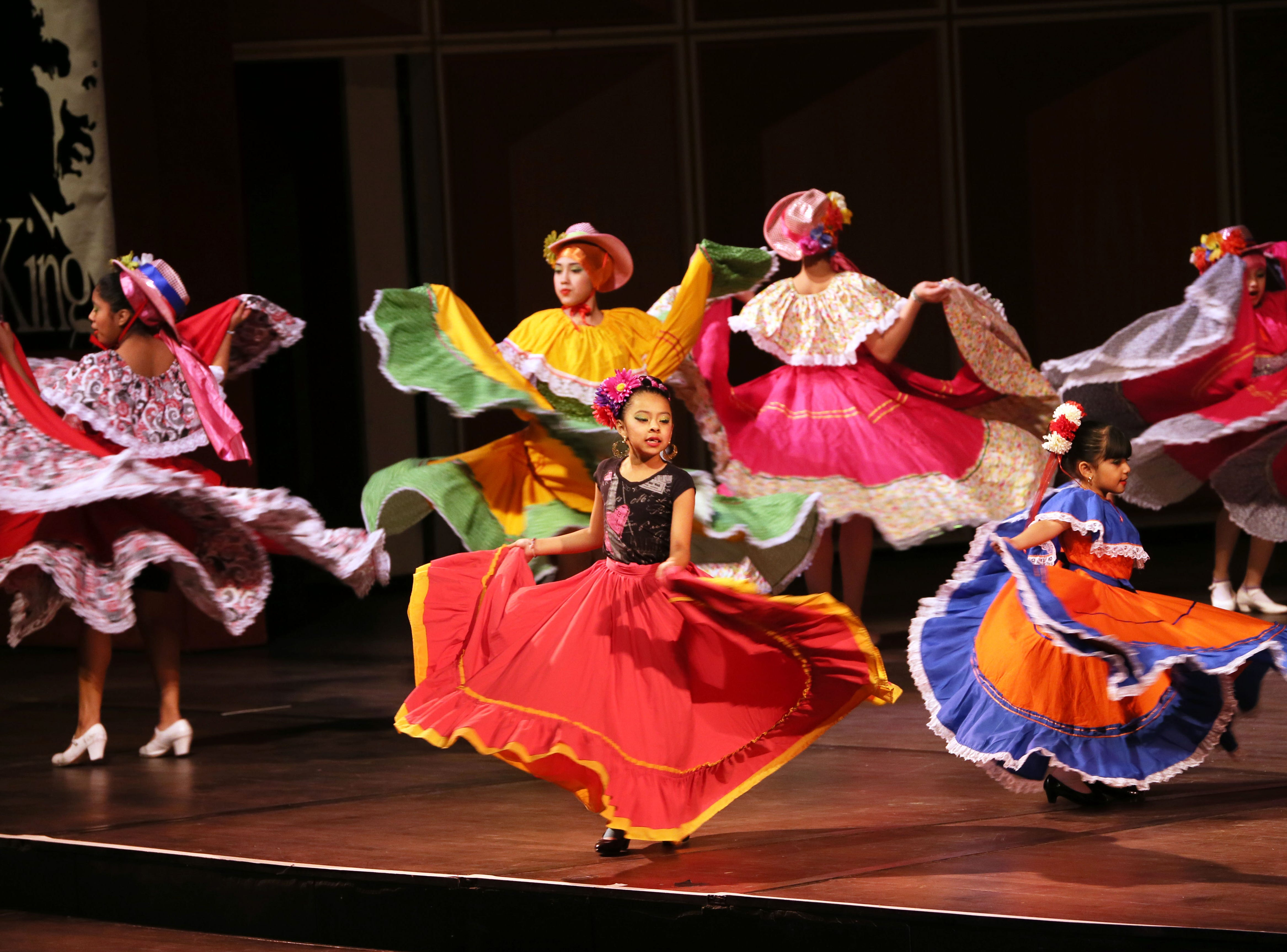 January 17, 2016 Photograph from the Dr. Martin Luther King, Jr. Birthday Celebration held at the Marcus Center for the Performing Arts in Milwaukee. Members of the Ballet Folklorico de Hayes CLC perform during the program. MICHAEL SEARS/MSEARS@JOURNALSENTINEL.COM