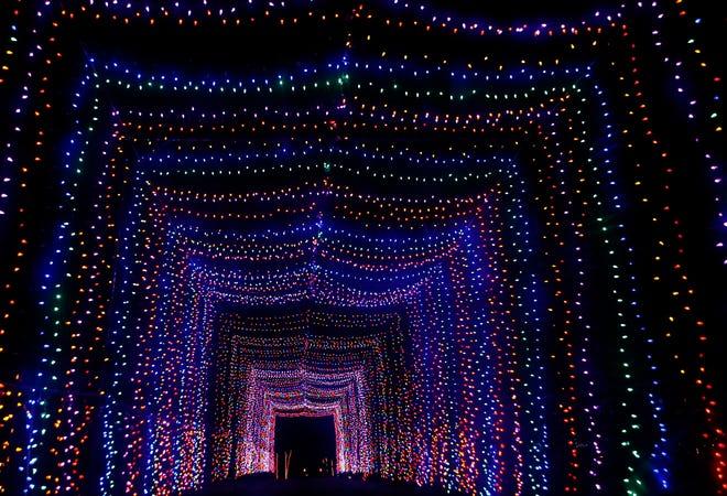 Kapco's new Kids2Kids Christmas Wonderland drive-thru experience will include three Christmas light tunnels similar to this one.