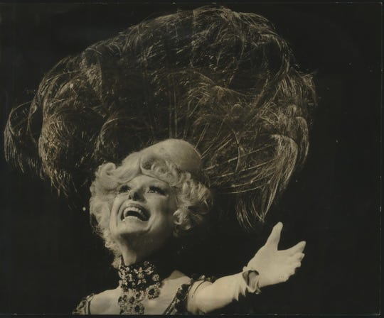 "Milwaukee-Carol Channing at the PAC Tuesday night plays in ""Hello Dolly."""