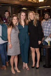 MakerGirl co-founder Elizabeth Engele (left), MakerGirl CEO Stephanie Hein (center) and MakerGirl co-founder Julia Haried pose for a picture at a MakerGirl fundraiser.