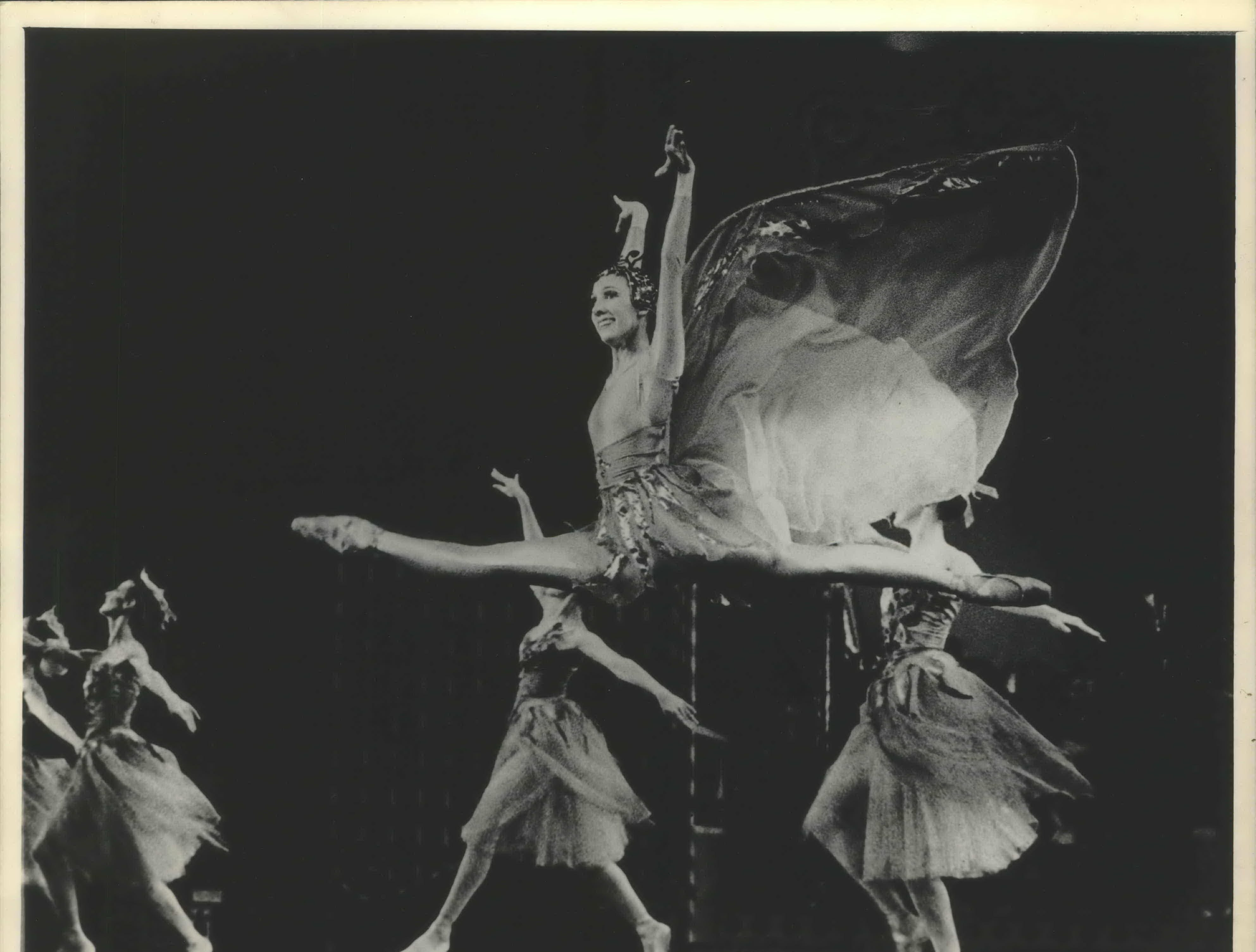 """Barbara Bessert danced the flight of a butterfly Friday. In Milwaukee Ballet's production of """"The Nutcracker."""" The Pennsylvania and Milwaukee Ballet's annual production of """"The Nutcracker"""" begins December 14 at the Performing Arts Center. Milwaukee Ballet Company."""