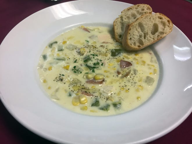 Roasted Sweet Corn Chowder from Pastiche.