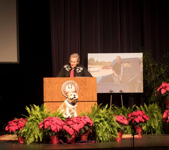 Temple Grandin spoke Thursday night at Louisiana Tech University as a part of the kick-off celebration for the ENRICH (Education and Research in Children's Health) Center.