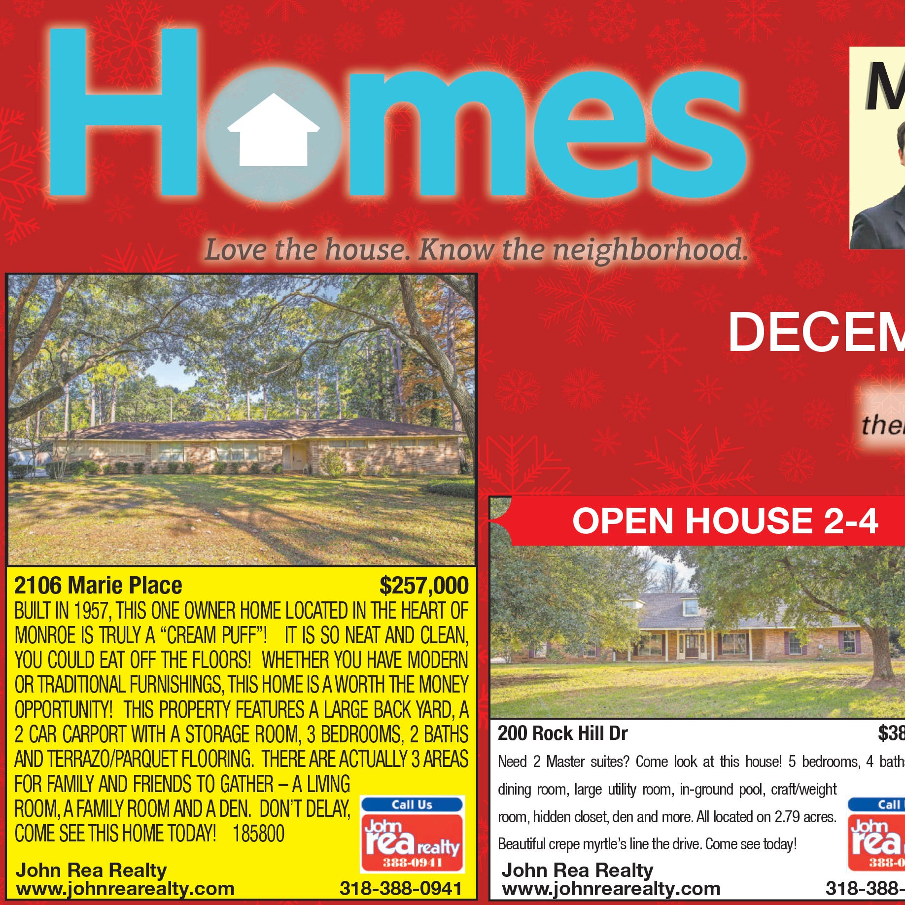 Homefinder: Dec. 9, 2018