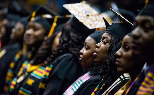 During the Alabama State University Commencement Ceremony in the Acadome on the ASU campus in Montgomery, Ala., on Friday December 7, 2018.