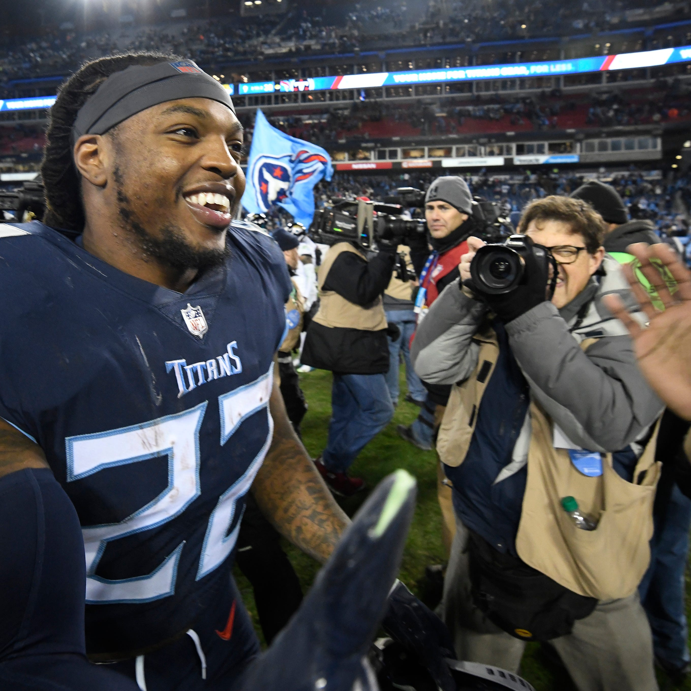 Titans two-minute drill: Internet's best versions of Derrick Henry's 99-yard run