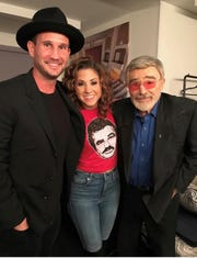 Jamie Floyd with Burt Reynolds, right, and John Martin, her collaborator on the soundtrack for Burt Reynolds' final film, The Last Movie Star. The three posed for a picture in Rome, Ga., at a 2017 film festival there.