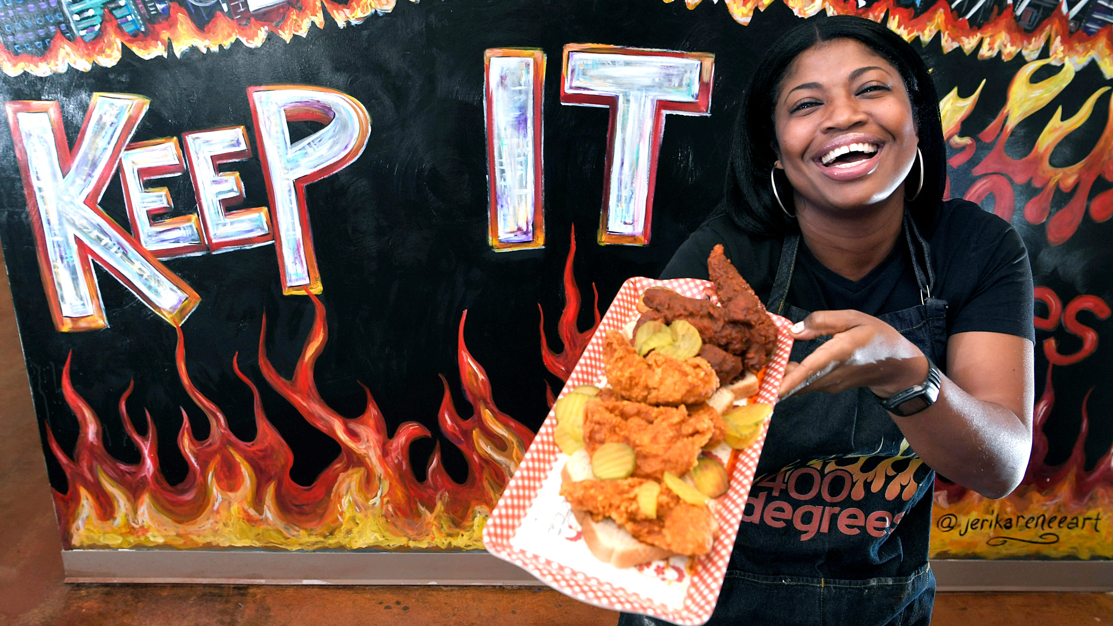 Aqui Hines, owner and founder of 400 Degrees hot chicken.