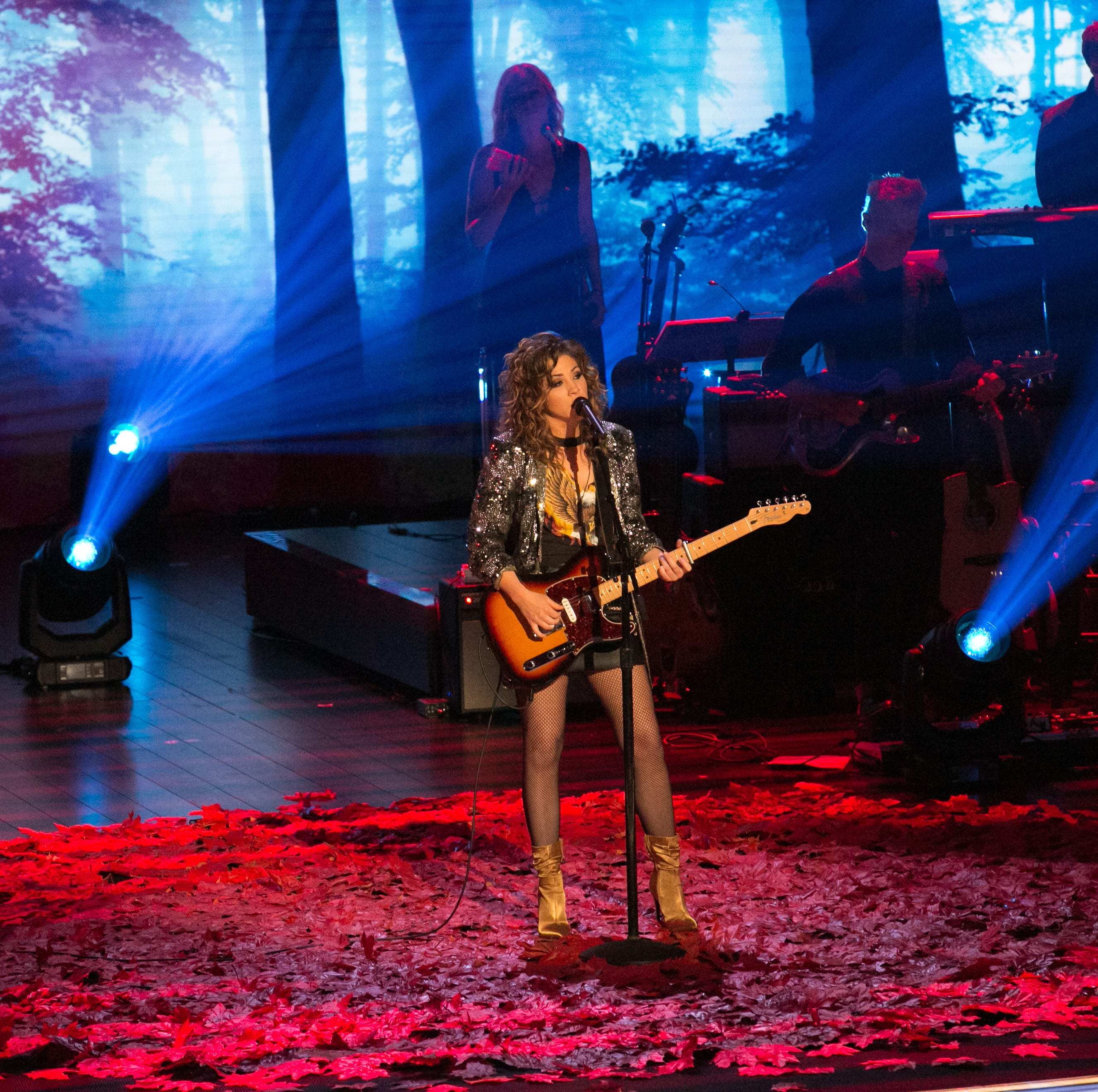 Jamie Floyd performs during a taping of USA...