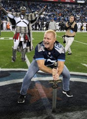 Pro wrestler Jeff Jarrett was the 12th Man for the Titans' game Dec. 6, 2018.