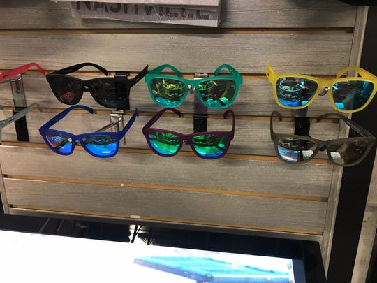 """Mountain High Outfitters has Goodr sunglasses for $25. They are """"no slip, no bounce, all polarized. """""""