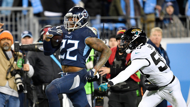 2b6aebb7 Derrick Henry stiff-arms his frustration as Titans pound Jaguars