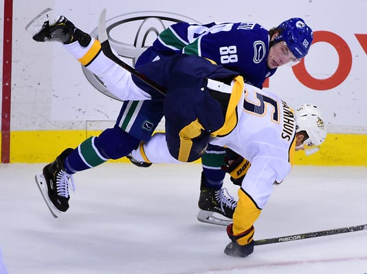 Nhl Nashville Predators At Vancouver Canucks