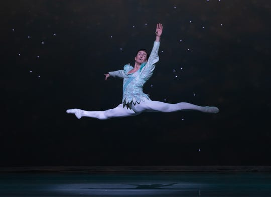 "Nicolas Scheuer as the Snow King in the Nashville Ballet production ""Nashville's Nutcracker."""