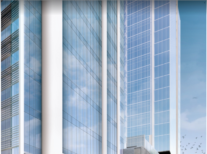 A rendering of Amazon's eastern U.S. operations center in downtown Nashville