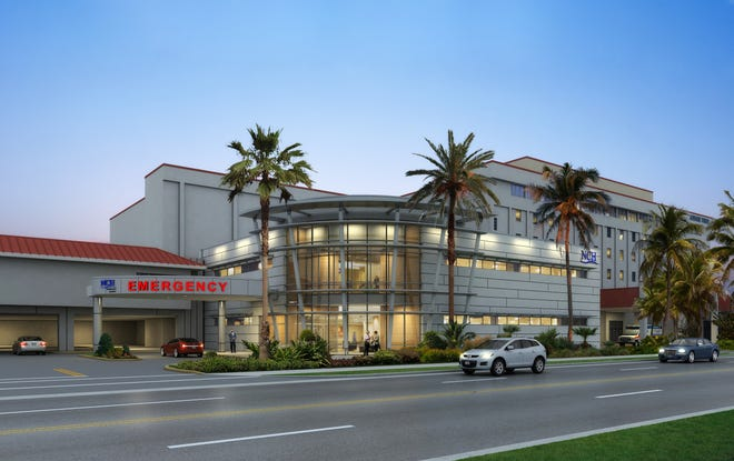 Rendering of emergency room upgrade at NCH Baker Hospital Downtown.