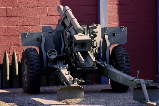 World War II Howitzer 105 outside the Garfield VFW post 2867 in Garfield on Friday December 7, 2018.