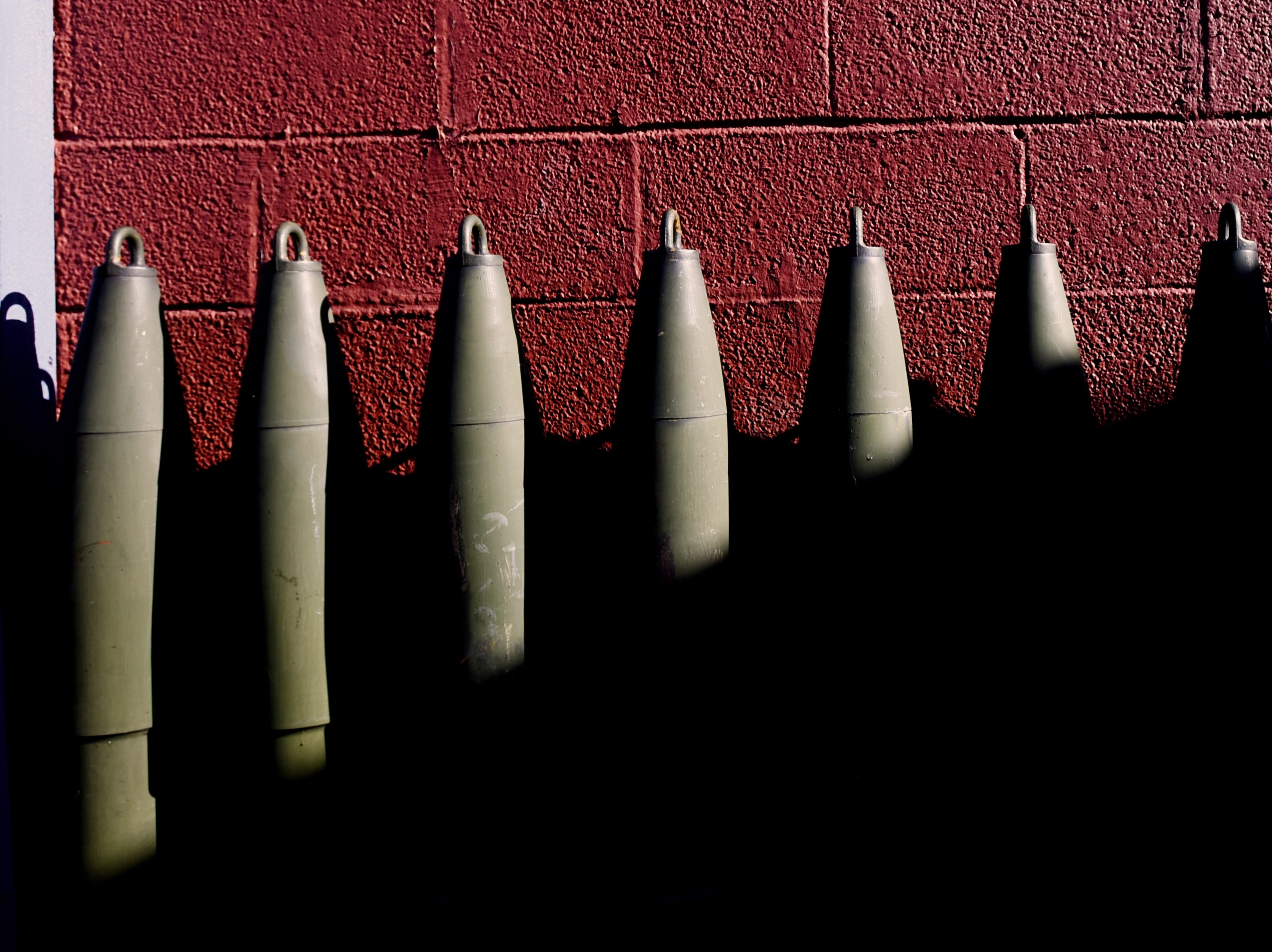 Ammo lined up outside the Garfield VFW post 2867 in Garfield on Friday December 7, 2018.