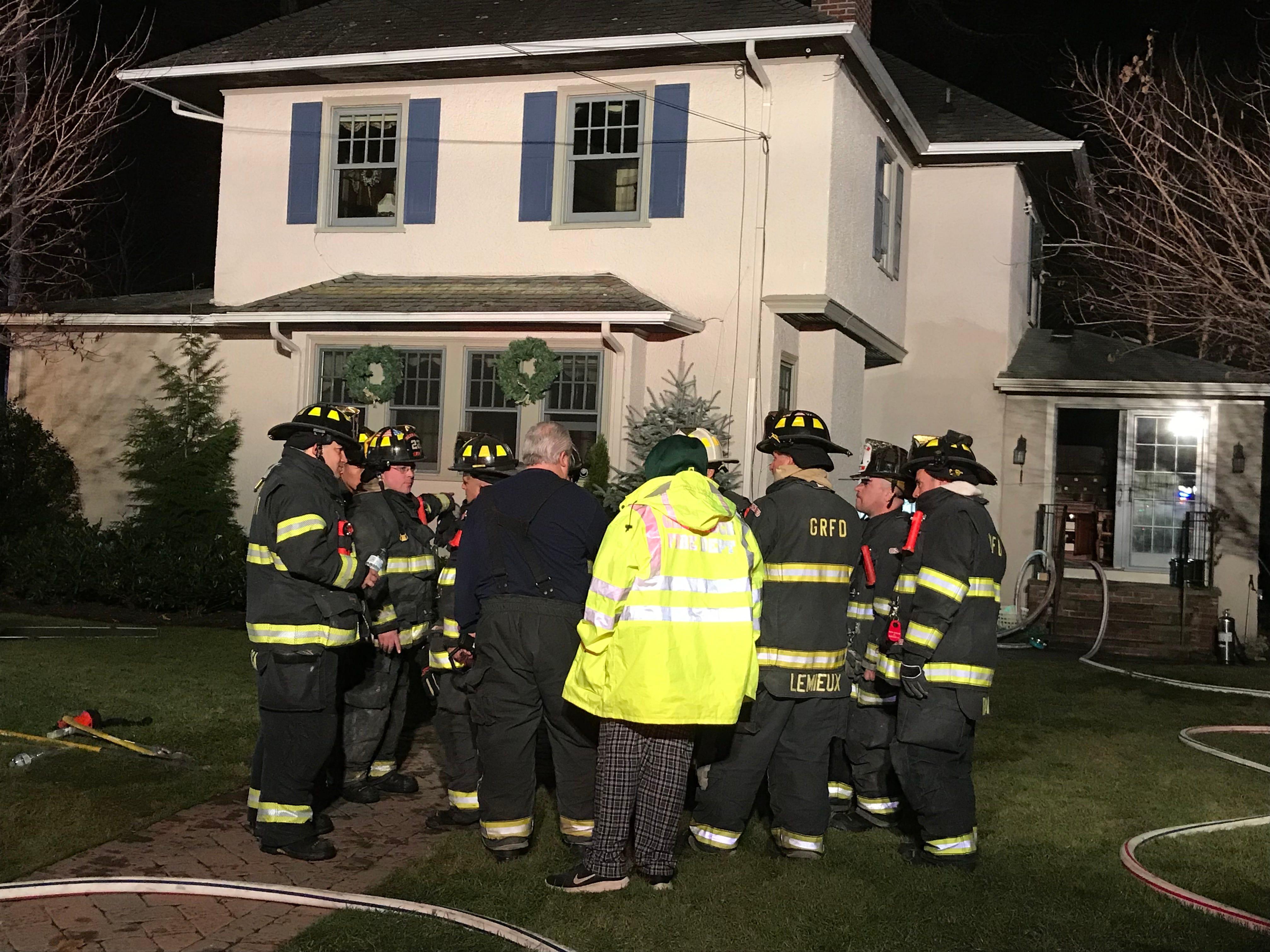 Firefighters respond to Maple Avenue in Glen Rock Dec. 6, 2018.