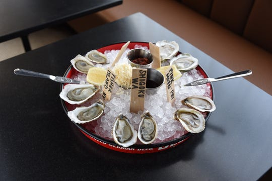 Fresh shucked oysters at Ridgewood's first oyster bar at No. 12 restaurant