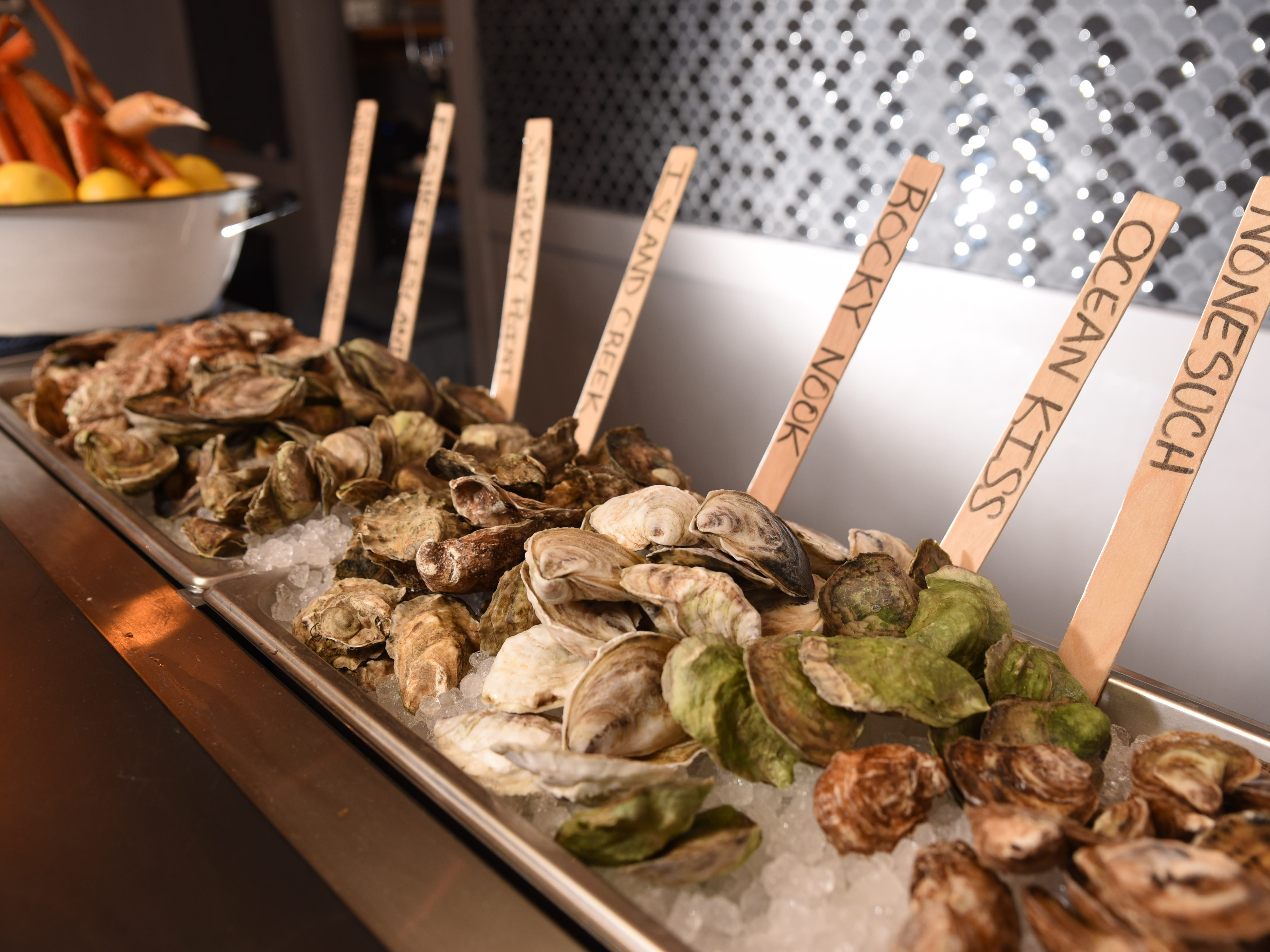 Selection of oysters at No. 12 in Ridgewood